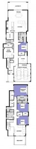 "Floor plans for ""My San Remo"" home design (double storey home)"