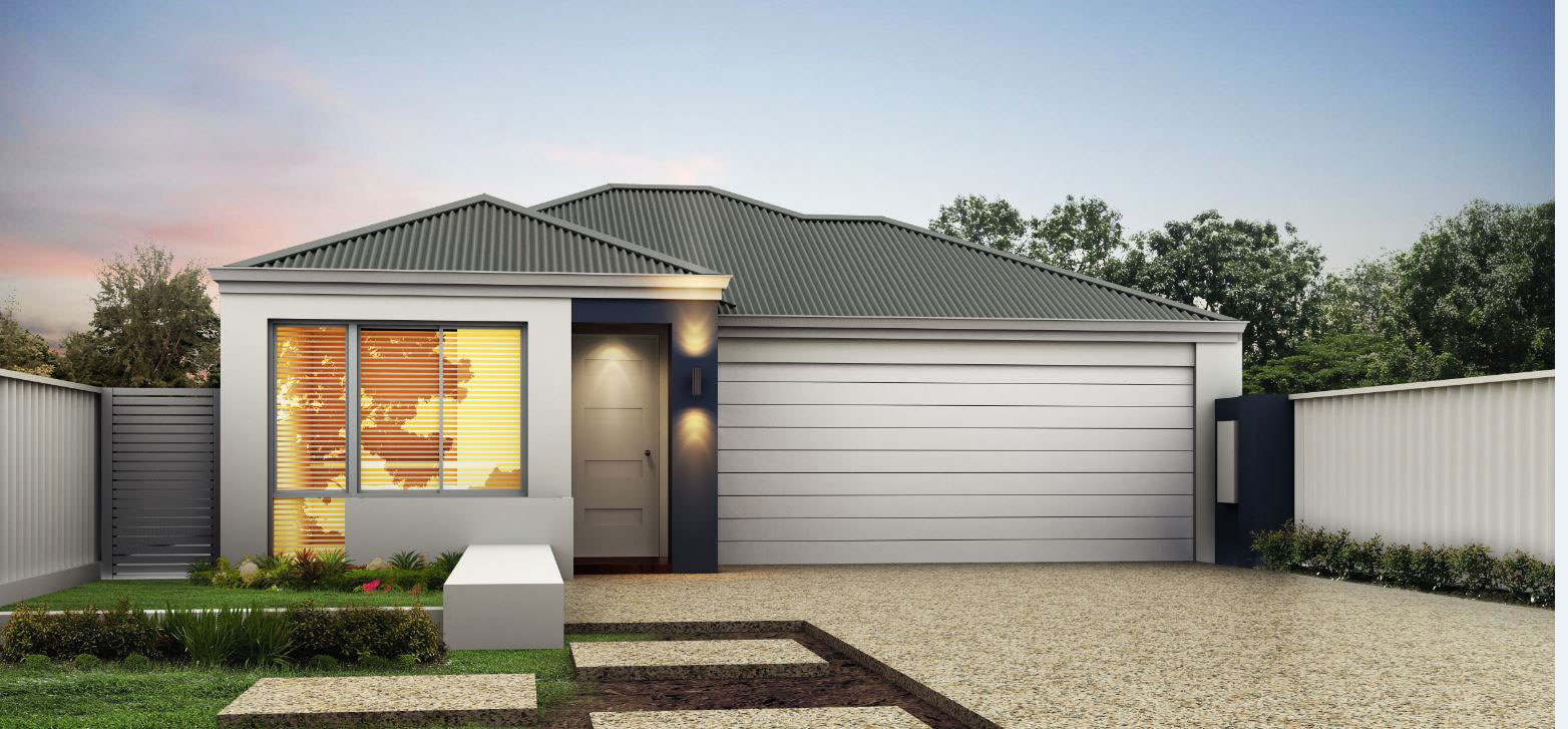Frontage of a house designed by Perth home builders My Homes WA