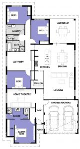 """Floor plan of single storey home """"My Vienna"""", designed and built in Perth by My Homes WA"""