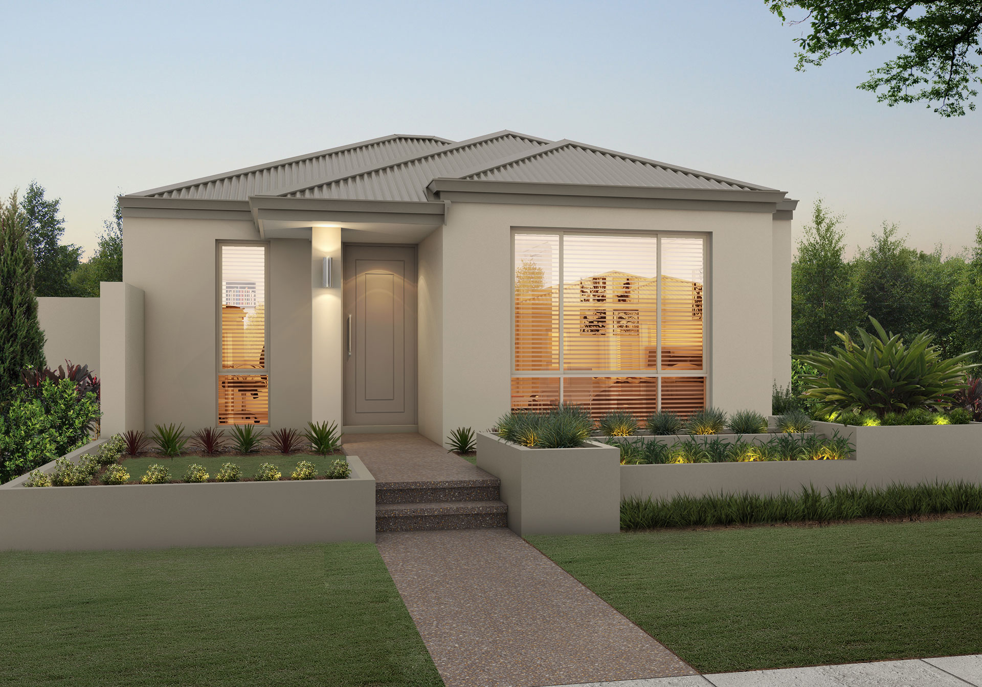 "House frontage of single storey home design ""My Berkley"""