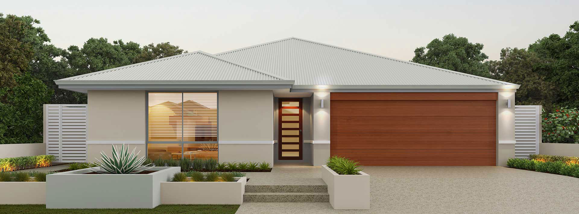 "House frontage of single storey home design ""My Brunswick"""