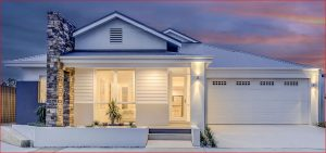 """House frontage of single storey home design """"My Cambridge"""""""