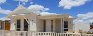 """House frontage of single storey home design """"My Chantilly"""""""