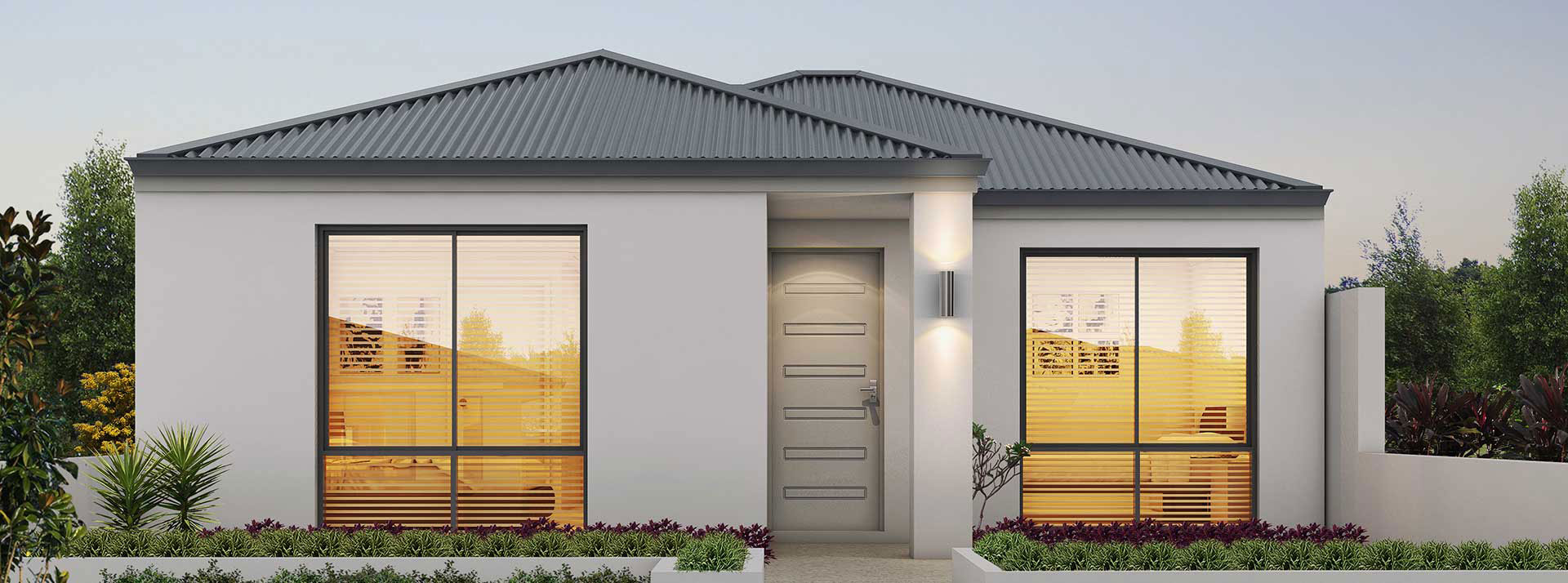"House frontage of single storey home design ""My Davenport"""