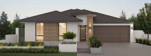 """House frontage of single storey home design """"My Florence"""""""