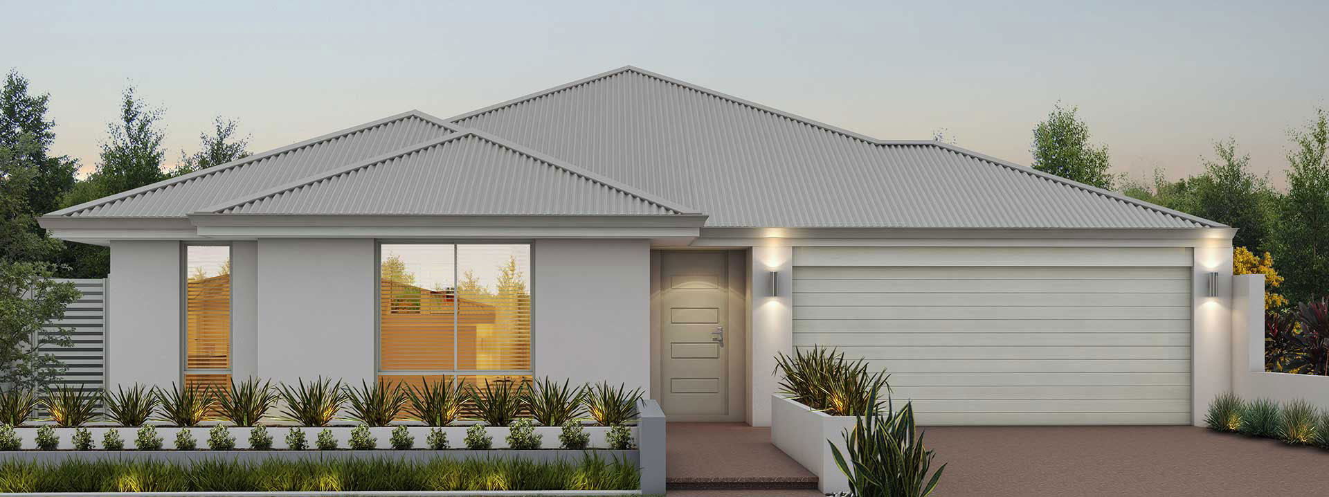 "House frontage of single storey home design ""My Kingston"""