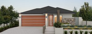 "House frontage of single storey home design ""My Milan"""