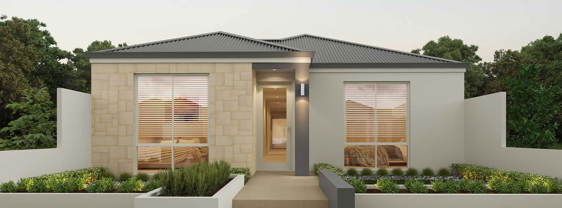 "Home frontage of single storey home design ""My Montana"""