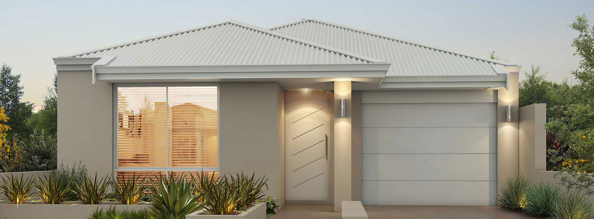 "Home frontage of single storey home design ""My Mornington"""