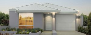 """Home frontage of single storey home design """"My Newport"""""""