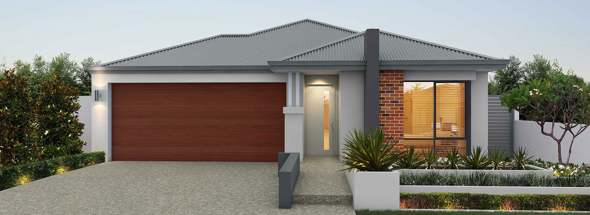 """House frontage of single storey home design """"My Oxford"""""""