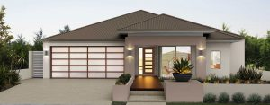 """House frontage of single storey home design """"My Prevelly"""""""