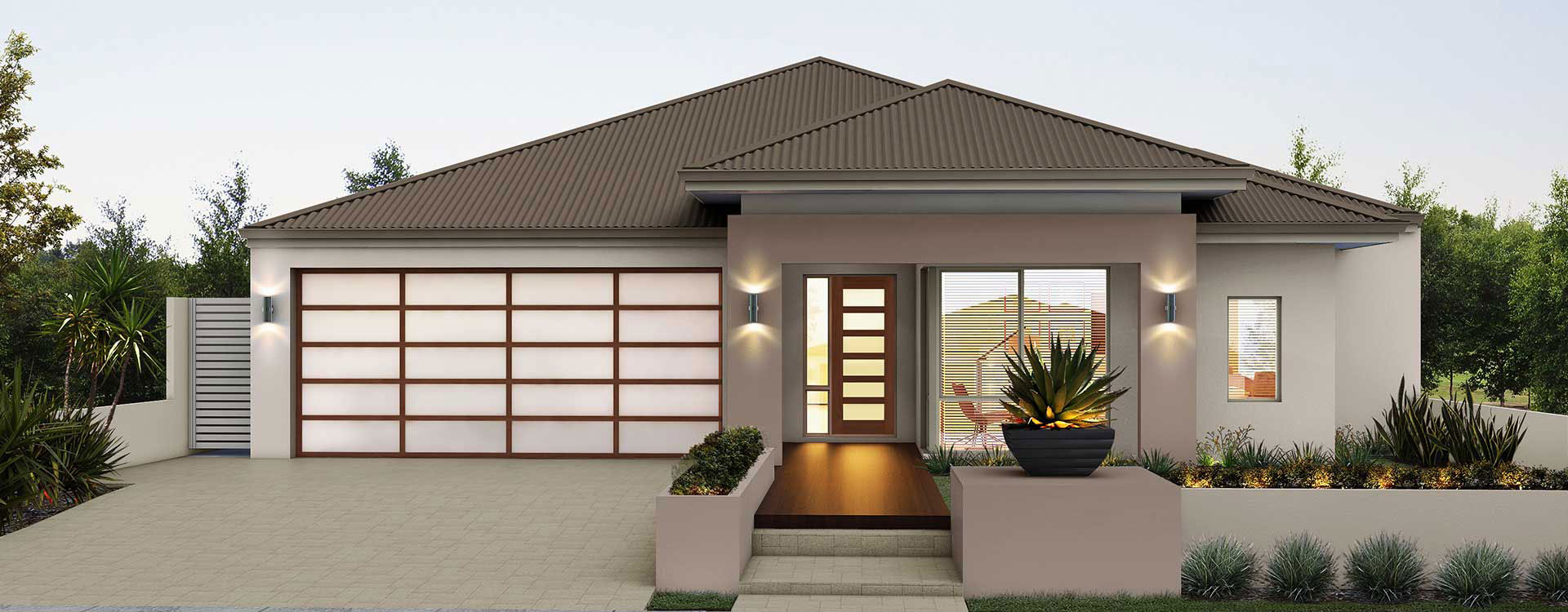 "House frontage of single storey home design ""My Prevelly"""