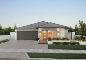 """Home frontage of single storey home design """"My Retreat"""""""