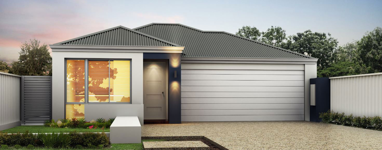 """Home frontage of single storey home design """"My Sanctuary"""""""