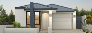 "Home frontage of single storey home design ""My Santa Fe"""