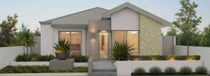 "Home frontage of single storey home ""My Santorini"", designed and built in Perth by My Homes WA"