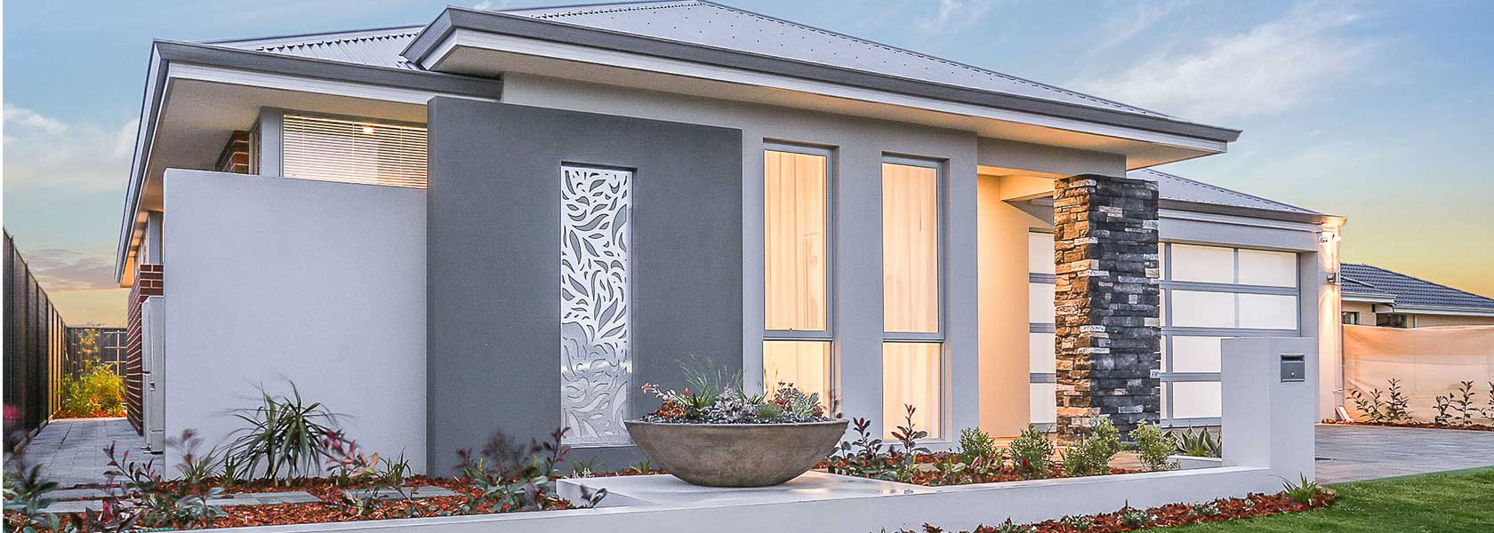 "Home frontage of single storey home ""My Sienna"", designed and built in Perth by My Homes WA"