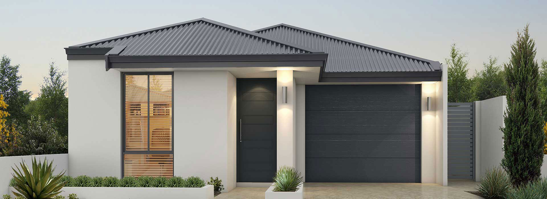 "Frontage of single storey ""My Verona"" home designed and built in Perth by My Homes WA"
