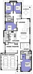 "Floor plan of single storey ""My Vienna"" home designed and built in Perth by My Homes WA"